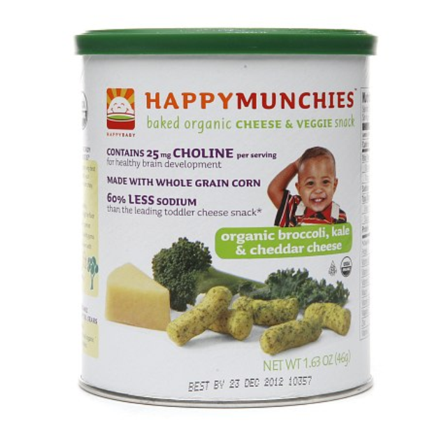 Happy Munchies Baked Organic Cheese & Veggie Snack