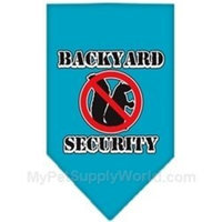 Mirage Pet Products Backyard Security Screen Print Bandana for Pets, Small, Turquoise