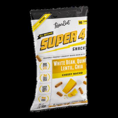 LesserEvil Super 4 Snacks White Bean, Quinoa, Lentil, Chia Cheesy Nacho Baked Bean Bites
