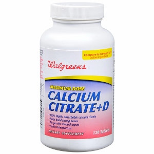 Walgreens Calcium Citrate+D Tablets