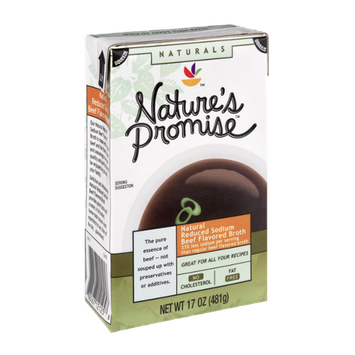 Nature's Promise Naturals Natural Reduced Sodium Beef Flavored Broth