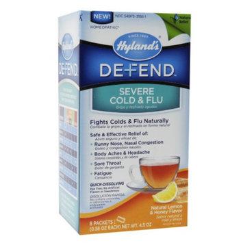 Hyland's Defend Severe Cold & Flu, Natural Lemon & Honey Flavor, 8 ea