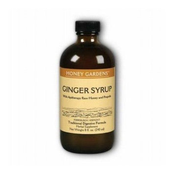 Ginger Syrup Honey Gardens 8 oz Liquid