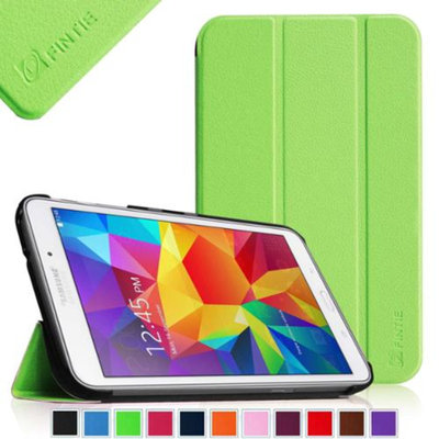 Fintie Smart Shell Case Ultra Slim Lightweight Stand Cover for Samsung Galaxy Tab 4 8.0 inch Tablet, Green