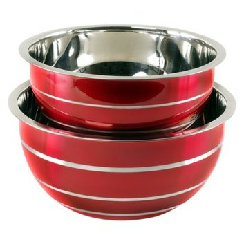 M.E. Heuck Co. red Red Mixing Bowl Set