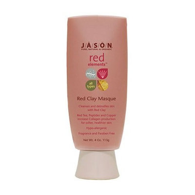 Jason Natural Jason Red Elements Fragrance Free Red Clay Masque for All Skin Types, 4-Ounce Tubes (Pack of 2)