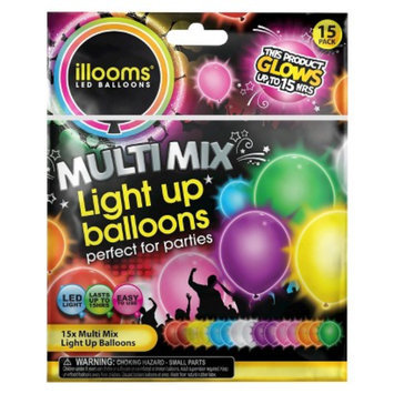 Illooms Light Up Balloons Mixed Colors 15 Pack