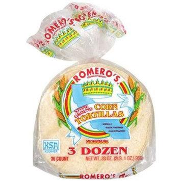 Romero's: 3 Dozen Regular Corn Tortillas, 33 Oz