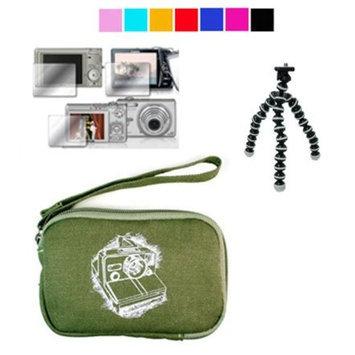 VangoddyTM Mini Glove Camera Case for Fujifilm FinePix J250W J38 JV100 JX250 + Screen Protector + Tripod for Fujifilm Slim Cameras