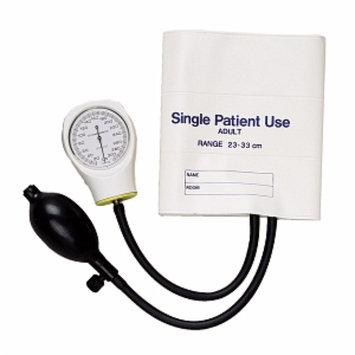 Mabis Single Patient Use Aneroid Sphygmomanometer, White, 1 ea