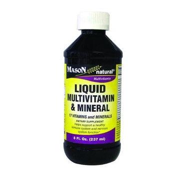 Mason Vitamins Liquid Multivitamin and Mineral (17 Vitamins and Minerals), 8-Ounce