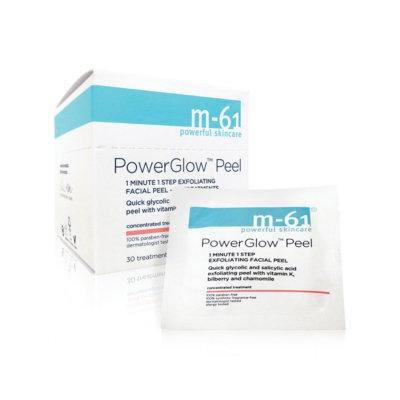 m-61 by Bluemercury PowerGlow Peel 1 Minute 1-Step Exfoliating Facial Peel - 30 Treatments