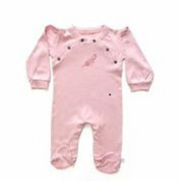 Finn + Emma Organic Cotton Girl Gift Set footie/hat- size 0-3 - Pink - Bridal Rose