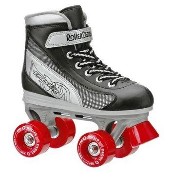 Roller Derby Boy's  Firestar Quad Skate - Black/ Silver/ Red - Size 3