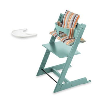 Stokke Tripp Trapp High Chair Complete Bundle in Aqua