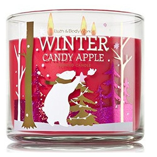 Bath & Body Works 1 X Bath and Body Works Winter Candy Apple 3 Wick Scented Candle 14.5 Oz. 2014 Edition