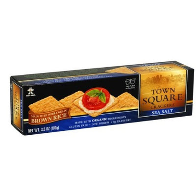 Want Want Town Square Crackers Sea Salt, 3.5-Ounce (Pack of 6)