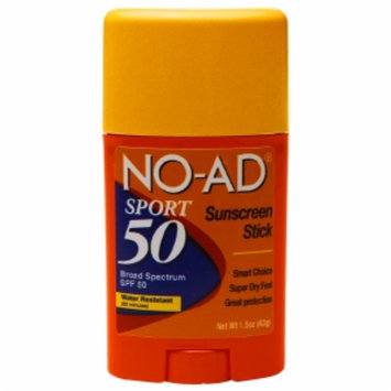 No-ad NO-AD Sport Sunscreen Stick SPF 50, 1.5 oz