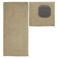 MU Kitchen Ultra Absorbent Solid Microfiber Kitchen Towel with Scrubber Cloth -