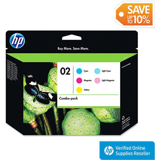 HP 02 Combo-Pack Ink Cartridges (CC604FN#140)
