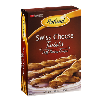 Roland Puff Pastry Crisps Swiss Cheese Twists