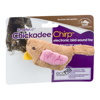SmartyKat Chickadee Chirp Electronic Bird-Sound Toy