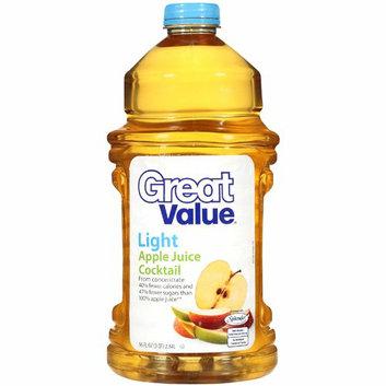 Great Value : Light Apple Juice Cocktail