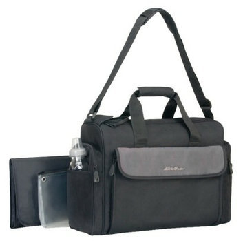 Eddie Bauer Organizer Diaper Bag - Black