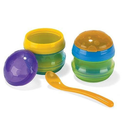 Sassy Insulated Feeding Pots, Colors May Vary (Discontinued by Manufacturer)