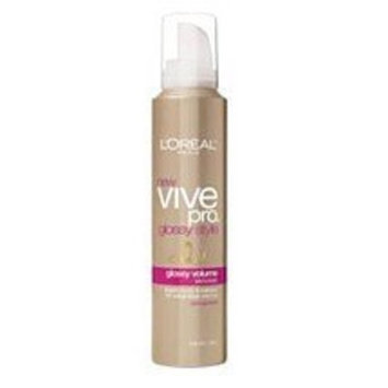 L'Oréal Paris Vive Pro Glossy Style Glossy Volume Mousse, Strong Hold