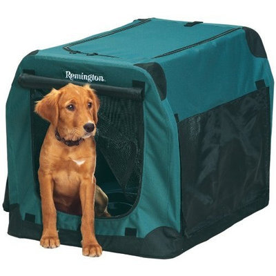 Remington Soft-Sided Collapsible Kennel, Green