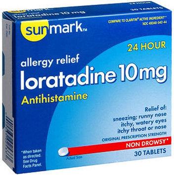 Sunmark Allergy Relief Loratidine, 10 mg 30 tabs by Sunmark