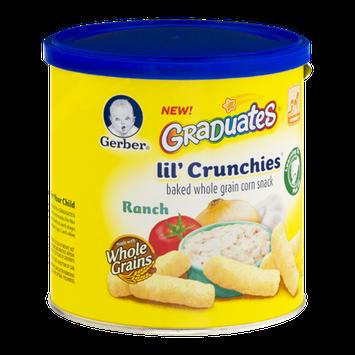 Gerber Graduates Lil' Crunchies Baked Whole Grain Corn Snack Ranch