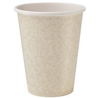 King Zak Ind Lillian Tablesettings 23285 Cream Texture 9 Oz Cup Twin Stack - 576 Per Case