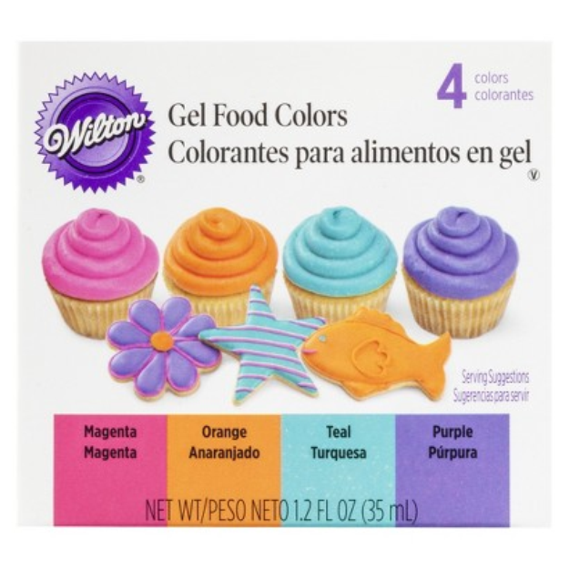 Wilton Gel Food Colors 4 ct