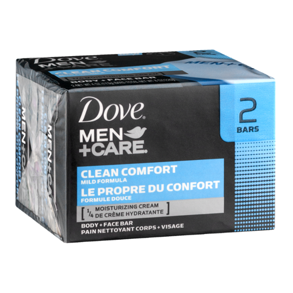 Dove Men+Care Clean Comfort Body + Face Bar - 2 CT
