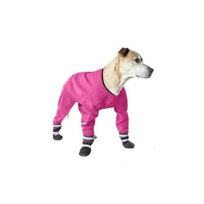 Muttluks 4-Legged Dog Jog Rain Suit, Size 18, Pink