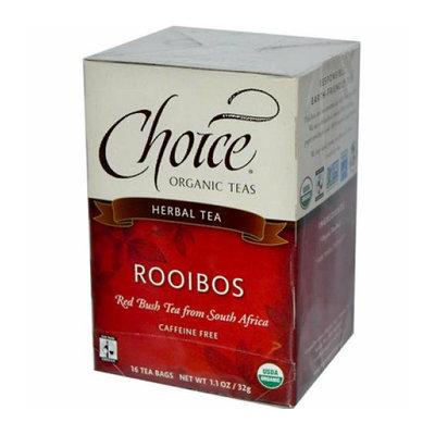 Choice Organic Teas Rooibos Red Bush Tea 16 Tea Bags Case of 6