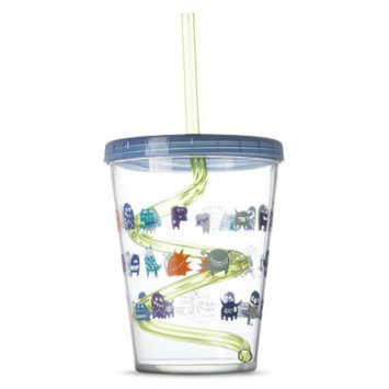 Circo Swirly Straw Cup Set of 2 - Blue