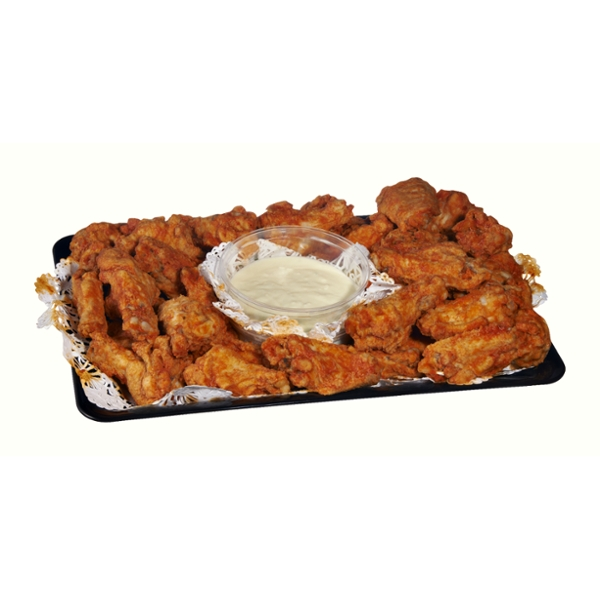 Ahold Chicken Wings Party Pack Buffalo Fully Cooked Cold Serves 6-8