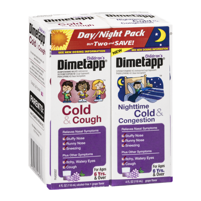 Children's Dimetapp Day/Night Pack Cold & Cough Nighttime Cold & Congestion - 2 CT