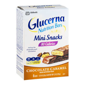 Glucerna Nutrition Bars Mini Snacks Chocolate Caramel - 6 CT