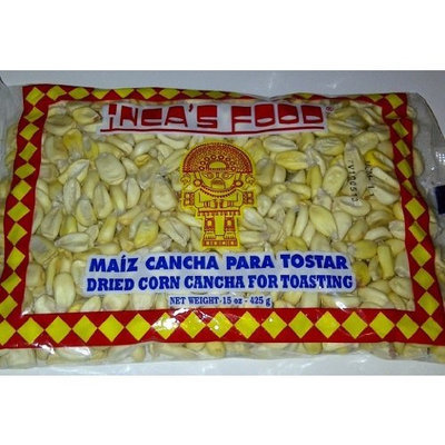 Inca's Food Maiz Cancha Para Tostar- Dried Corn Cancha for Toasting - Product of Peru 15oz