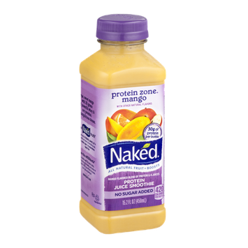 Naked Protein Zone All Natural Protein Juice Smoothie Mango