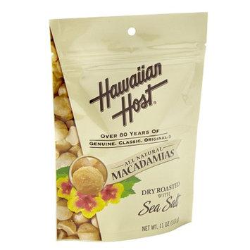 Hawaiian Host Dry Roasted with Sea Salt Macadamia Nuts, Resealable Bag, 11 oz