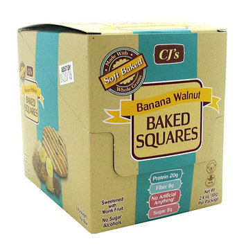 Chef Jay's Baked Squares Banana Walnut - 6 Packages Per Box