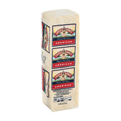 Land O' Lakes Premium Sliced Deli Cheese White American - 160 CT