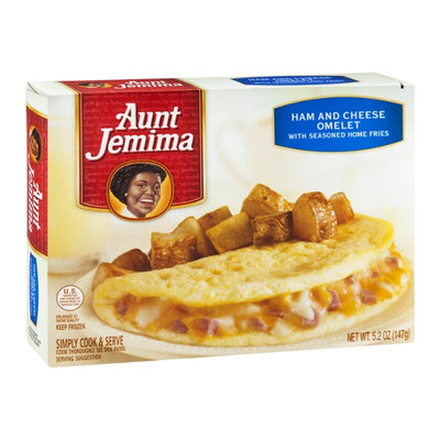 Aunt Jemima Omelet Ham & Cheese with Seasoned Fries