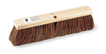 TOUGH GUY 1A844 Push Broom, Brown Palmyra, Garage
