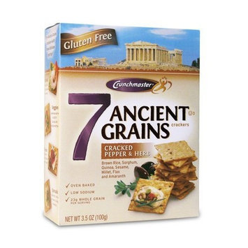 Crunchmaster 7 Ancient Grains Crackers, Cracked Pepper & Herb 3.5 oz. (Pack of 12)